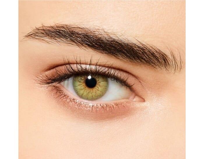 jungle green colored contact lens