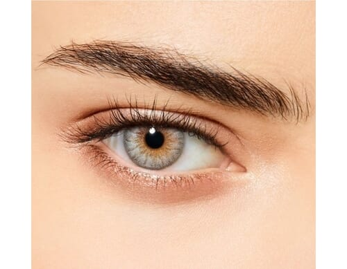 icy blue colored contact lens