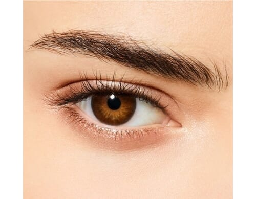 black coffee colored contact lens