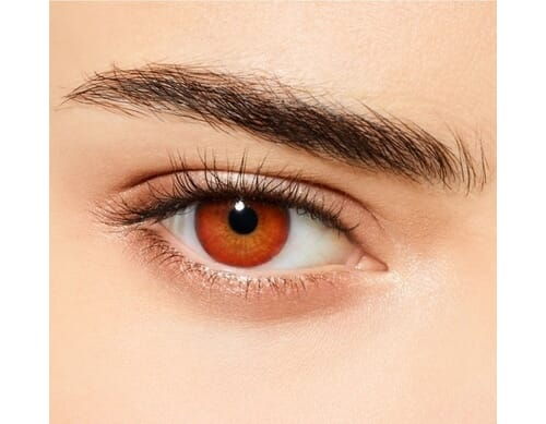 cherry black colored contact lens